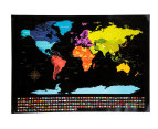 World Scratch Map - Black 3