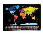 World Scratch Map - Black 3