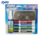 Expo Chisel Tip Whiteboard Marker w/ Cleaner and Eraser 4-Pack - Assorted 1