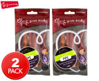 2 x Yours Droolly 12cm Chicken Wrapped Porkhide Pipe 6-Pack 1