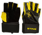Sting Men's C4 Carbine Training Gloves - Black/Yellow 1