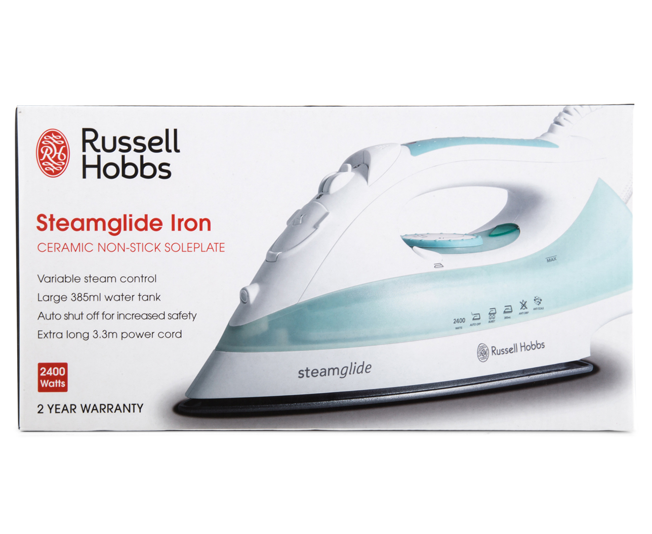 russell hobbs steamglide iron white teal scoopon shopping. Black Bedroom Furniture Sets. Home Design Ideas