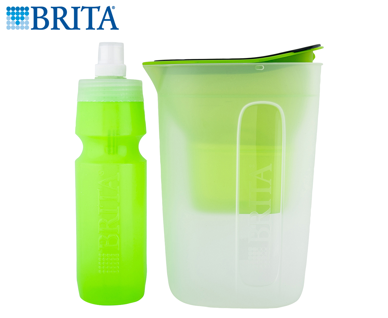 Brita Water Filter Jug Amp Bottle Bundle Green Scoopon