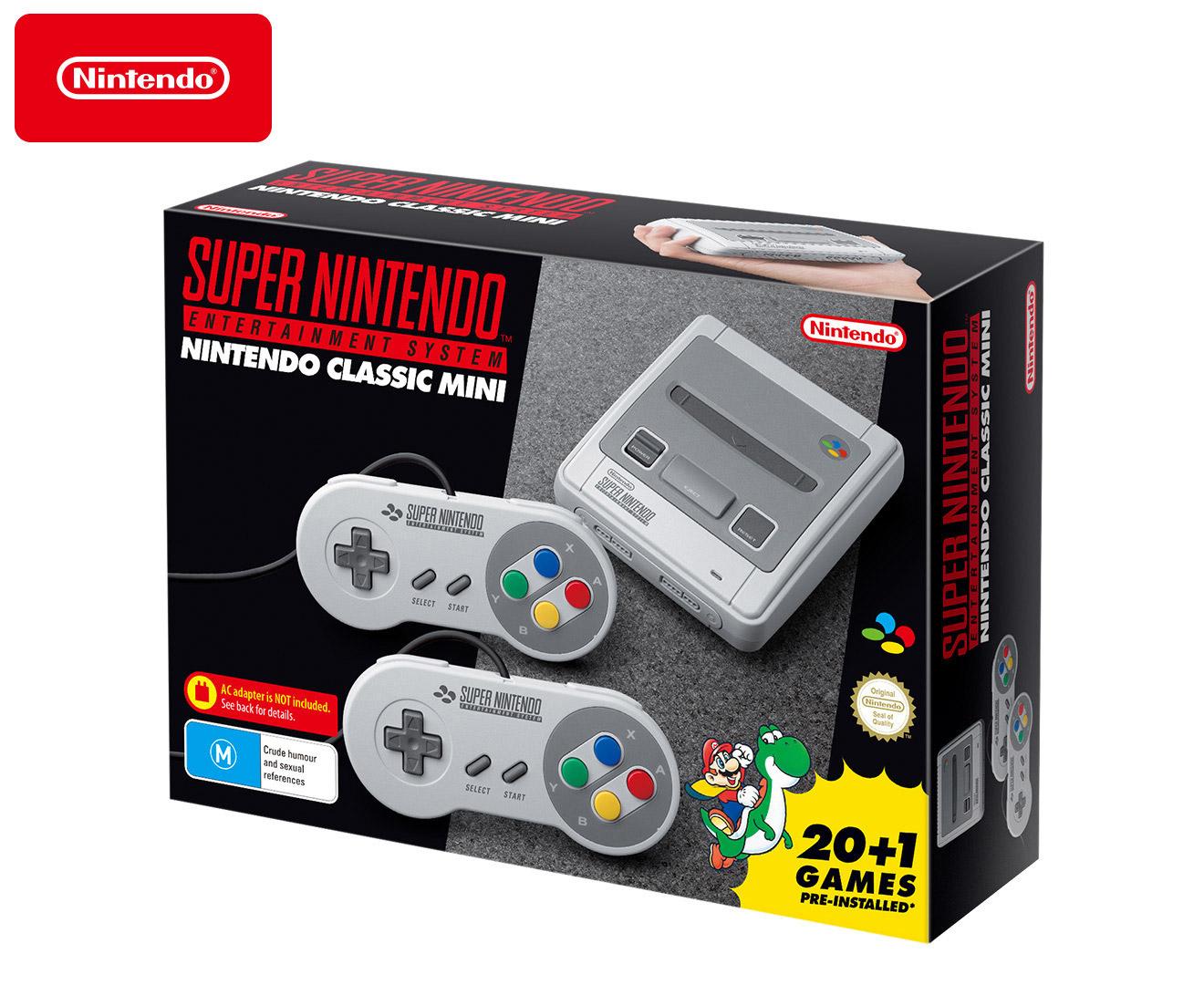 c35b526f74960 Nintendo Classic Mini SNES  Super Nintendo Entertainment System + 21 Super  NES Pre-Installed Games