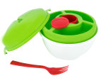 2 x Gourmet Kitchen Divide-A-Bowl - White/Green/Red 5
