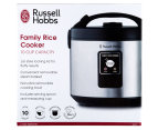 Russell Hobbs Family 10 Cup Rice Cooker - Black/Silver 6