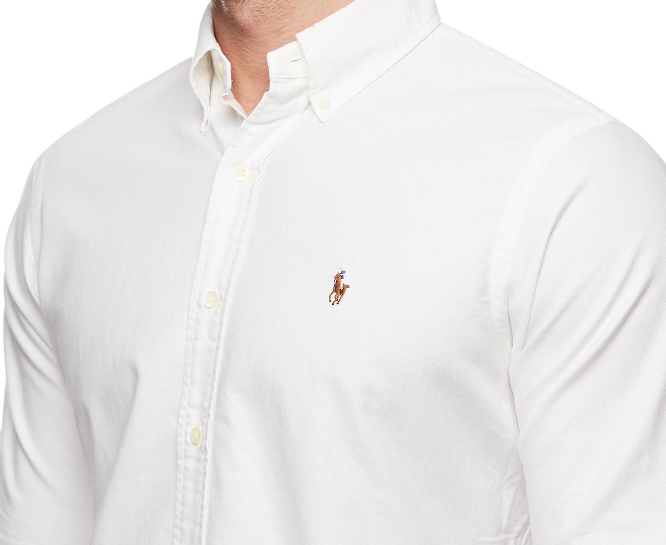 Oxford Ralph Men's Lauren White Shirt Polo T1clFJK