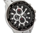 Casio Edifice Men's 54mm EF539D-1 Stainless Steel Chronograph Watch - Black/Silver 2