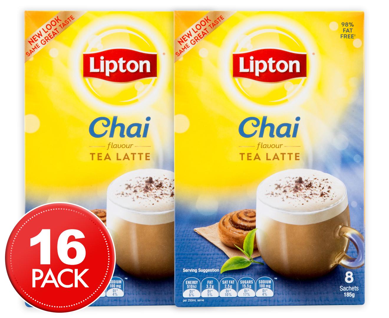 2 x lipton chai tea latte 185g 8pk. Black Bedroom Furniture Sets. Home Design Ideas