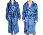 Morrissey Unisex Microplush Bath Robe Bathrobe- River Blue 2