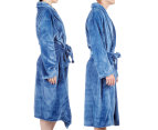Morrissey Unisex Microplush Bath Robe Bathrobe- River Blue 3