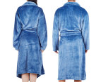 Morrissey Unisex Microplush Bath Robe Bathrobe- River Blue 5