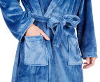 Morrissey Unisex Microplush Bath Robe Bathrobe- River Blue 6