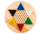 Shuffle Classic Games Wooden Chinese Checkers Game Set 3