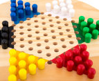 Shuffle Classic Games Wooden Chinese Checkers Game Set 4