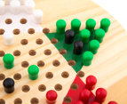 Shuffle Classic Games Wooden Chinese Checkers Game Set 6