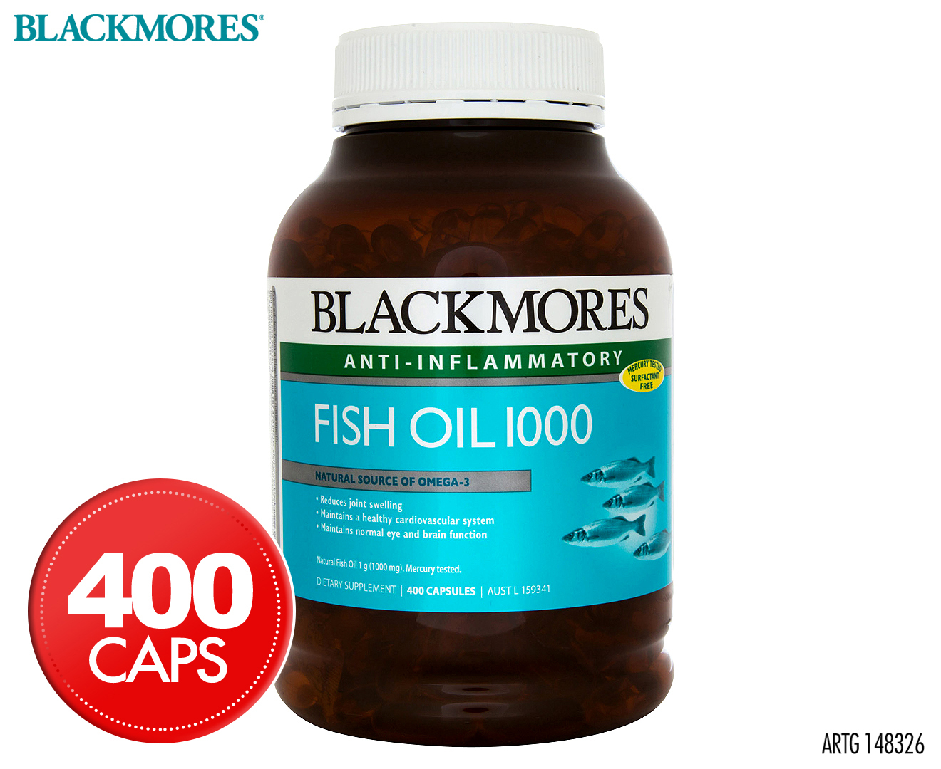 Blackmores anti inflammatory fish oil 1000 400 caps for Best fish oil to reduce inflammation