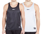 AND1 Men's Reversible Singlet - Black/White 2