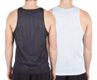 AND1 Men's Reversible Singlet - Black/White 5
