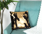 Vistara Sequin Cushion - Gold/Black 2