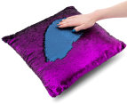 Vistara Sequin Cushion - Navy Blue/Violet 6