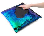 Vistara Sequin Cushion - Mermaid/Black 6