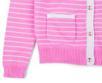 Carly Rose Striped Cardigan - Wild Orchid 3