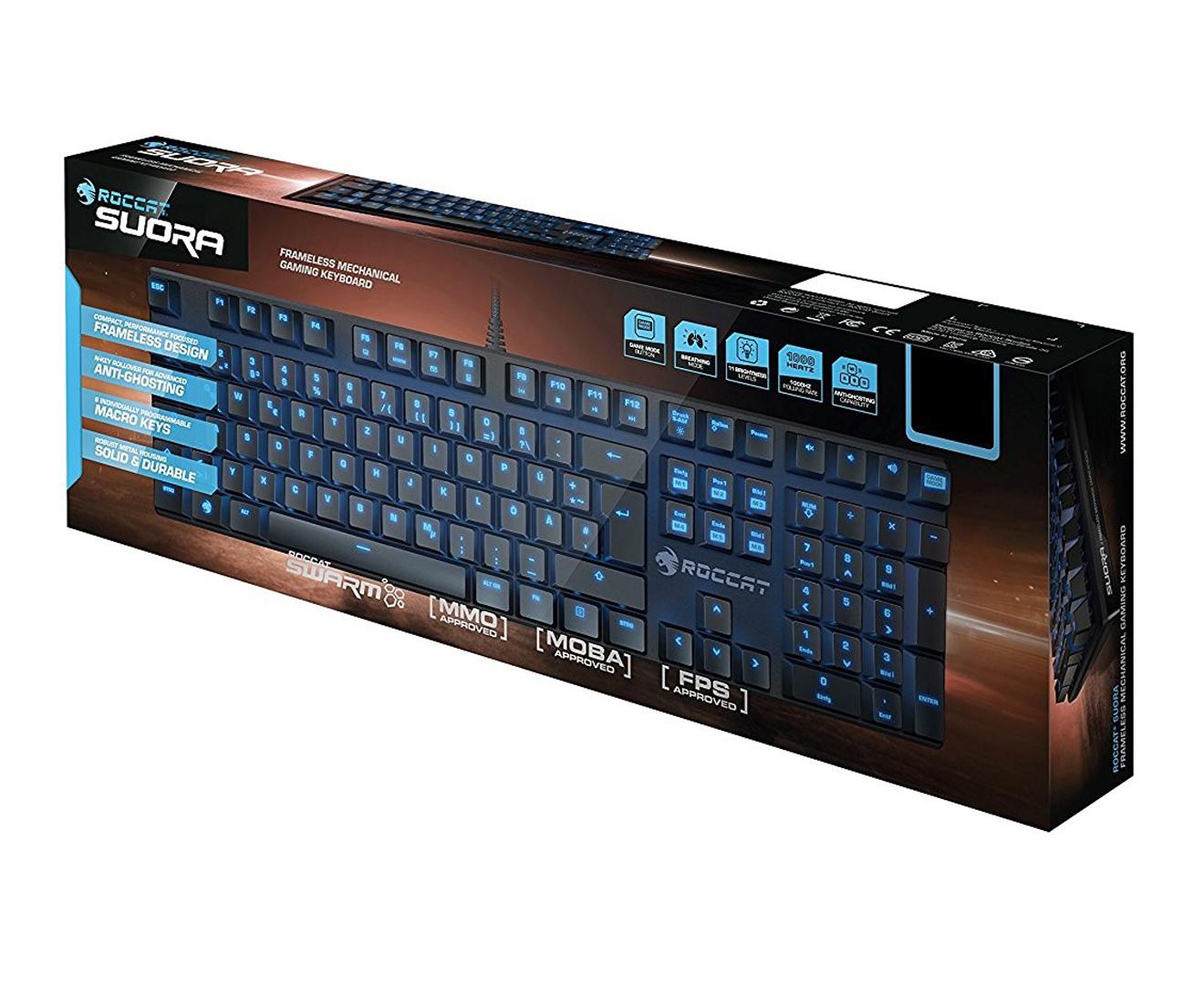 a71d34acae6 Roccat Suora Frameless Mechanical Gaming Keyboard - Black | Catch.com.au