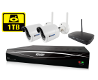 KGUARD HD481 4-CH Hybrid DVR with WiFi Receiver & 1TB 1