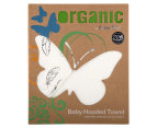 Bubba Blue 80x80cm Feathers Organic Cotton Hooded Towel - Natural 1