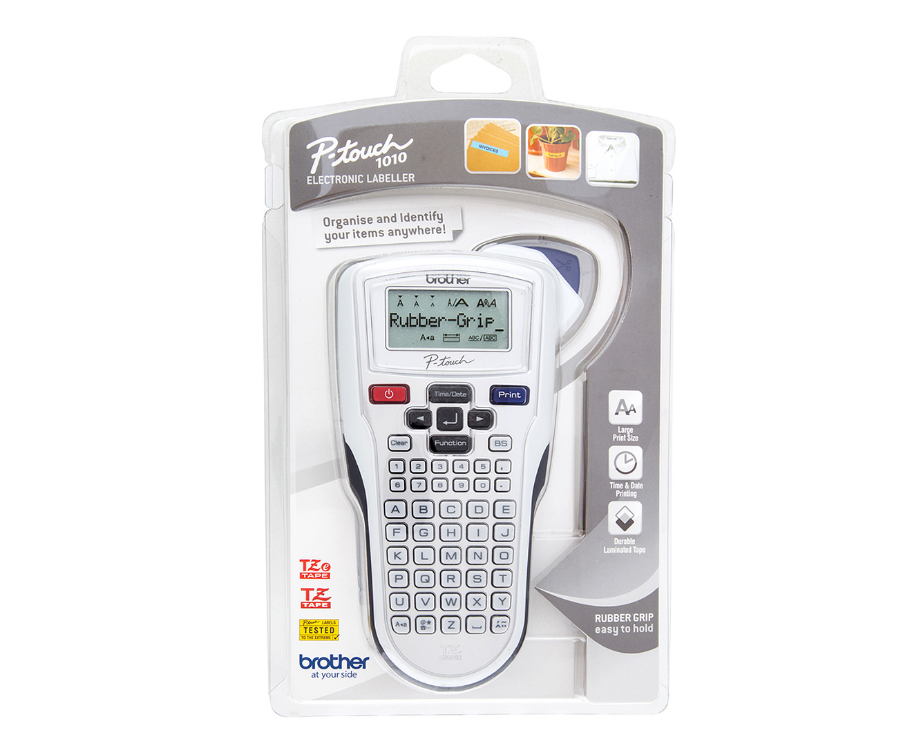brother pt 1010 p touch electronic label maker silver ebay. Black Bedroom Furniture Sets. Home Design Ideas