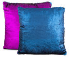 Vistara Sequin Cushion - Navy Blue/Violet 3