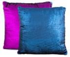 Vistara Sequin Cushion - Navy Blue/Violet 3