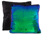 Vistara Sequin Cushion - Mermaid/Black 3