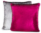 Vistara Sequin Cushion - Fuchsia/Silver 3