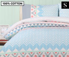 Belmondo Home Lindsey Single Bed Quilt Cover Set - Multi 1