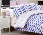 Belmondo Home Cubes King Bed Quilt Cover Set - Pink 1