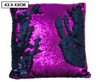 Vistara Sequin Cushion - Navy Blue/Violet 1