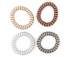 2 x Hair Ring Large Spiral 4-Pack - Multi 2