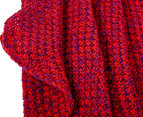 Knitted Adult 90x180cm Mermaid Tail Throw - Rose Red 4