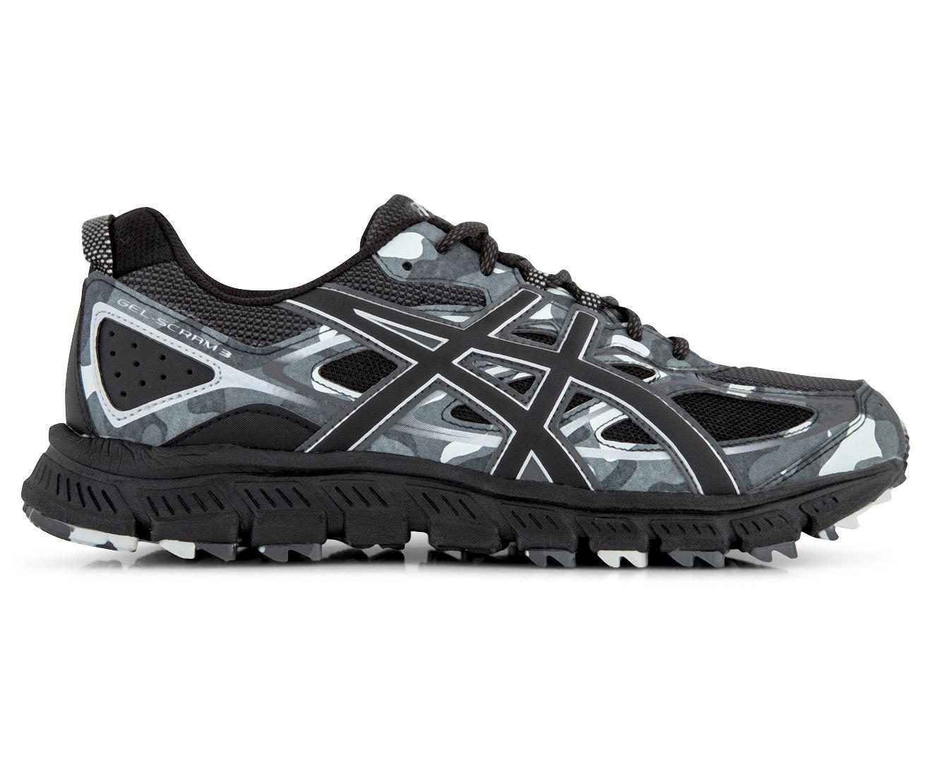 Asics Gel De Los Hombres-scram 3 Zapato - Negro / Gris Glaciar YOU4Bjln