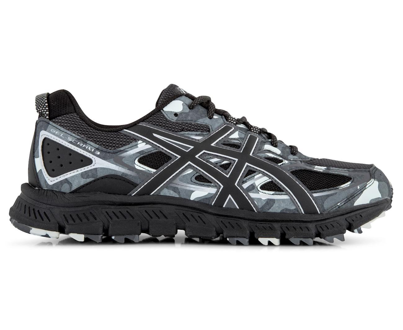 Asics Gel De Los Hombres-scram 3 Zapato - Negro / Gris Glaciar LuZ5XYE