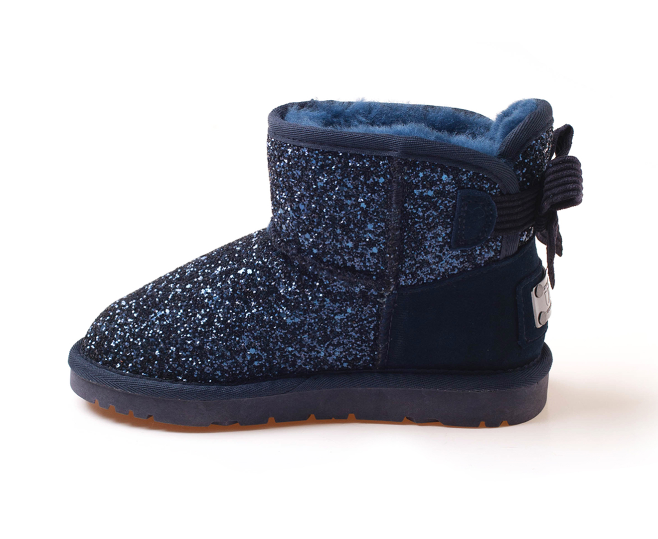 229e2415279 OZWEAR Connection Kids' Bailey Bow Corduroy Sparkling Boots ...