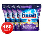 4 x 40pk Finish Quantum Max Powerball Super Charged Dishwashing Tabs Lemon 1