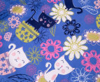 Happy Kids Kool Cat Glow In The Dark Double Bed Quilt Cover Set - Multi 5