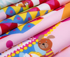 Happy Kids Fun At Fair Glow In The Dark Double Bed Quilt Cover Set - Pink/Multi 3