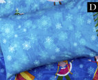 Happy Kids Snow Princess Glow In The Dark Double Bed Quilt Cover Set - Multi 3