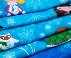 Happy Kids Snow Princess Glow In The Dark Double Bed Quilt Cover Set - Multi 4