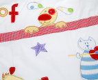 Happy Kids Hey Diddle Diddle Single Bed Quilt Cover Set - Multi 5