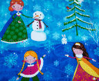 Happy Kids Snow Princess Glow In The Dark Double Bed Quilt Cover Set - Multi 6